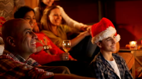family bonding at christmas - vacations stock videos & royalty-free footage