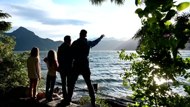 family bonding in nature - british columbia stock videos & royalty-free footage