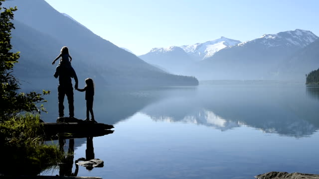 family bonding in nature - canada stock videos & royalty-free footage