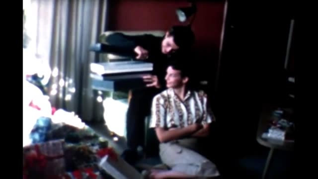 1965 family christmas - hair length stock videos and b-roll footage