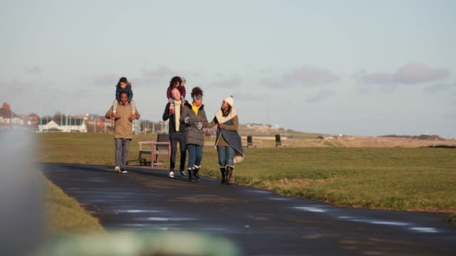 family day out - whitley bay stock videos & royalty-free footage