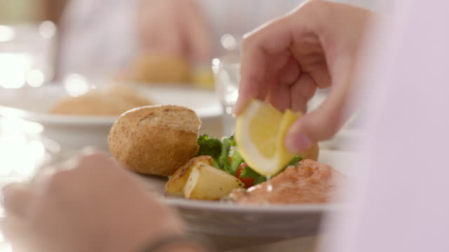 family dining - seafood stock videos & royalty-free footage