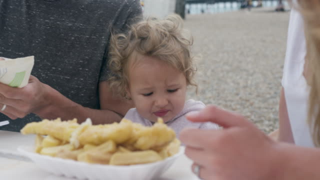 family eating at beach - 12 17 months stock videos & royalty-free footage