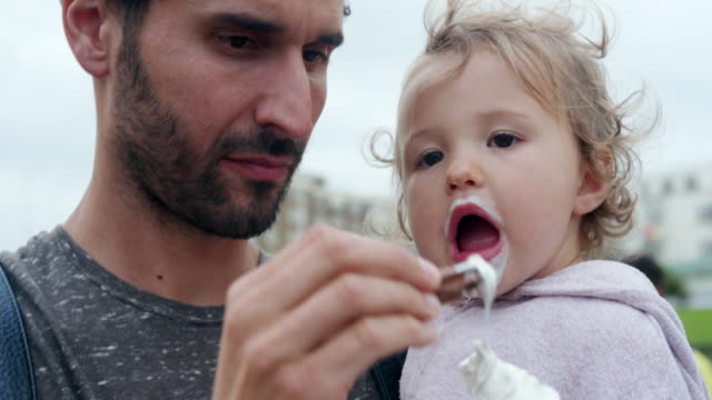 family eating ice creams - sussex stock videos and b-roll footage