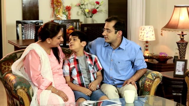 family enjoying at home, delhi, india - tickling stock videos & royalty-free footage