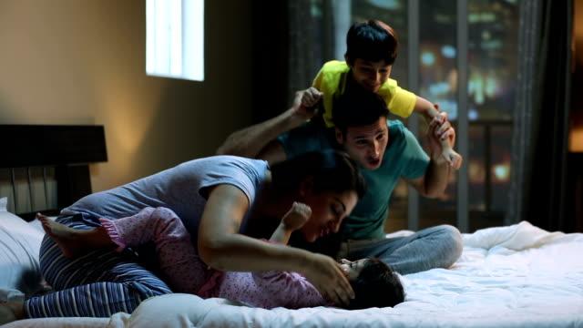 Family enjoying at home, Delhi, India