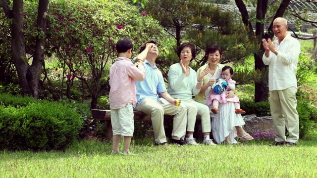 MS Family enjoying blowing bubbles / Seoul, South Korea
