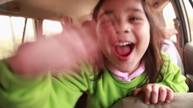 family enjoying in a car  - gesturing stock videos & royalty-free footage