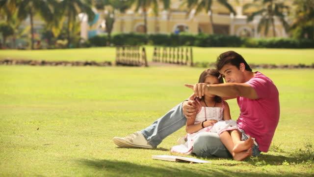 Family enjoying in a park