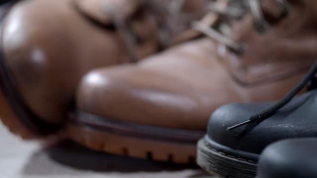 family footwear - shoe stock videos & royalty-free footage