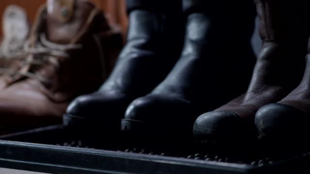 family footwear - rack stock videos & royalty-free footage