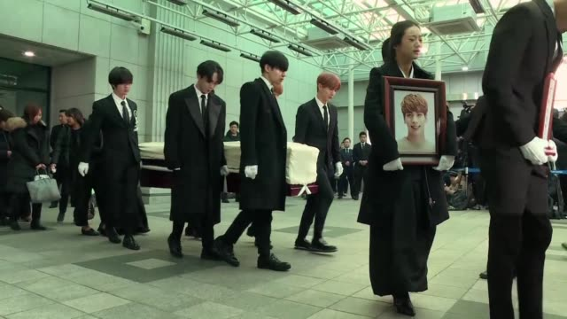 Family friends and fans bid farewell to the top Kpop star Kim Jong Hyun who was found dead in a hotel room in the South Korean capital Seoul in what...