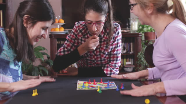 family games - board game stock videos & royalty-free footage