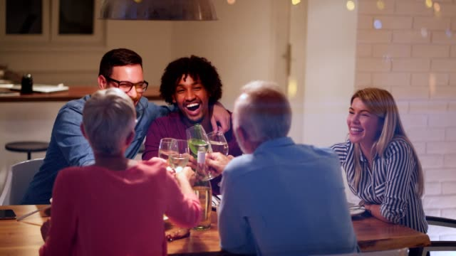 family gathering at the dinner table - small group of people stock videos & royalty-free footage