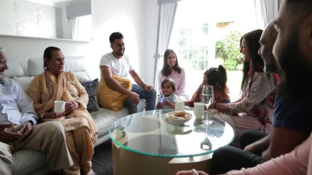 familientreffen - indischer abstammung stock-videos und b-roll-filmmaterial