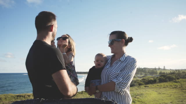 family happy in the outdoors - outdoors stock videos & royalty-free footage