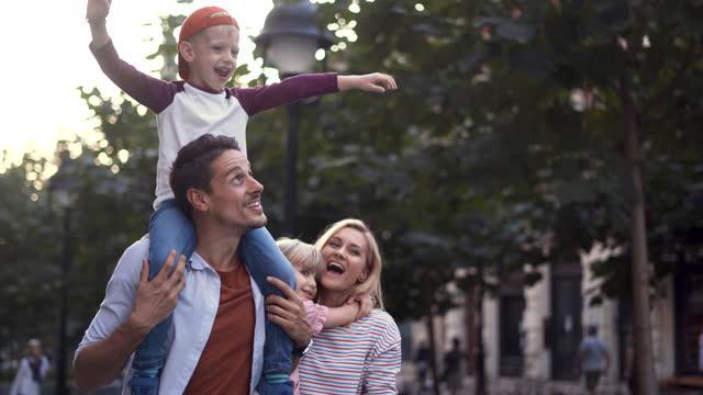 family having fun - husband stock videos & royalty-free footage