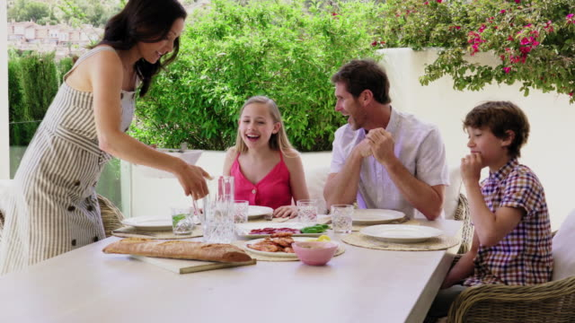 family having meal - meal stock videos & royalty-free footage