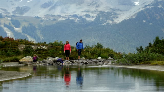 Family hiking in Whistler, BC