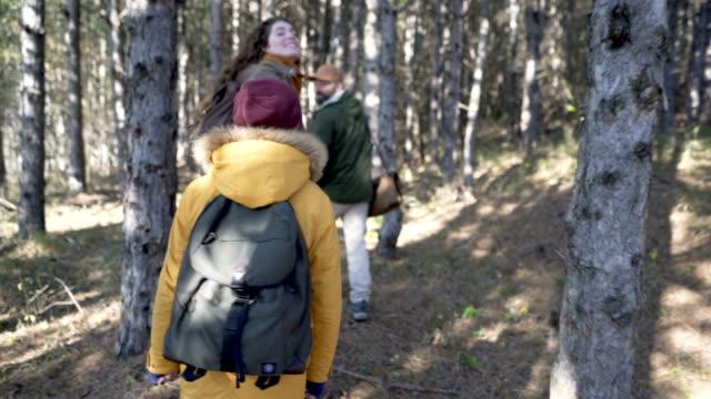 vídeos de stock, filmes e b-roll de família de caminhada - mochila bolsa