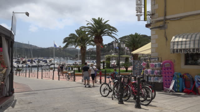 family in old town of porto azzurro - island of elba stock videos & royalty-free footage