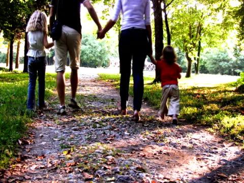 ntsc: familie im park - gemeinsam gehen stock-videos und b-roll-filmmaterial