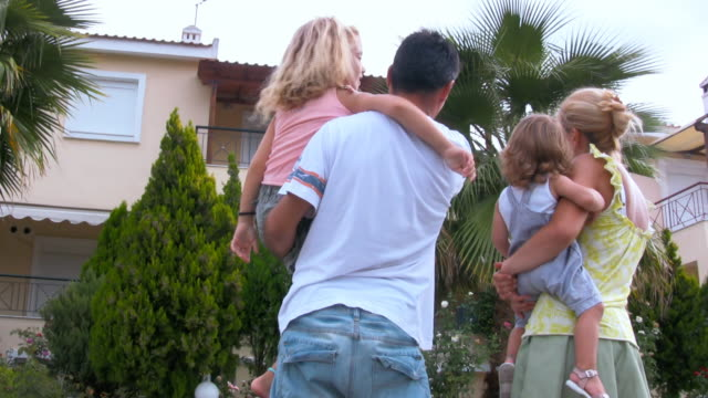 hd: family looking for house - house rental stock videos & royalty-free footage