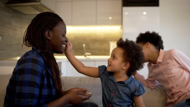 family make up - mascara stock videos & royalty-free footage