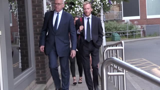 Family members arrive at the inquest into the deaths of two soldiers in a tank explosion Corporals Matthew Hatfield and Darren Neilson of the Royal...