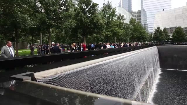 WS Family members of 9/11 victims pay their respects at the National September 11 Memorial Museum in New York This year marks the 13th anniversary of...