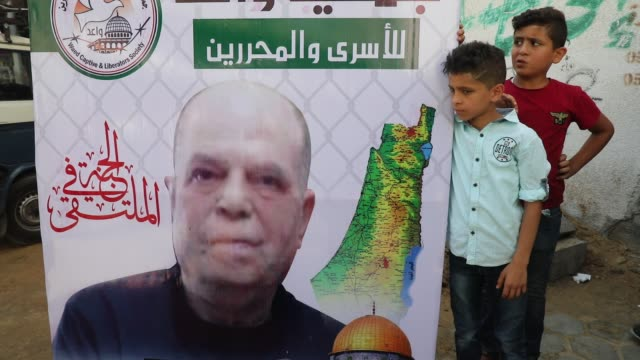 family members of saadi alghrabli a palestinian sentenced and imprisoned by israel for life for murder 26 years prior mourn together during his... - sick prisoner stock videos & royalty-free footage