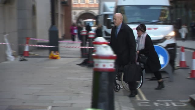 family members of victims of the manchester arena bombing arriving at the old bailey for the trial of hashem abedi - manchester arena stock videos & royalty-free footage