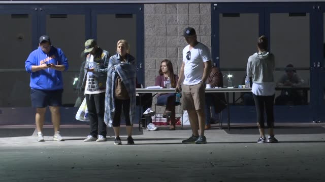 Family members of victims seek help finding their loved ones at the Las Vegas Convention Center which became an assistance center after a gunman...