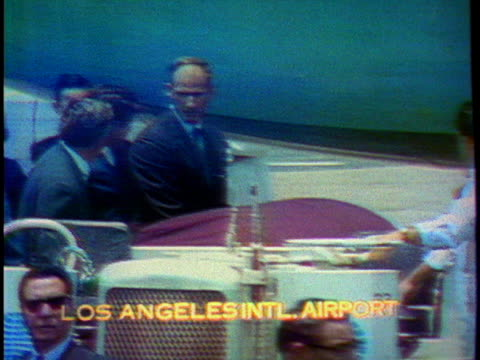 family members surround the coffin carrying the body of senator robert f. kennedy as it is taken from the hearse and put on an airplane at los... - ethel kennedy stock videos & royalty-free footage