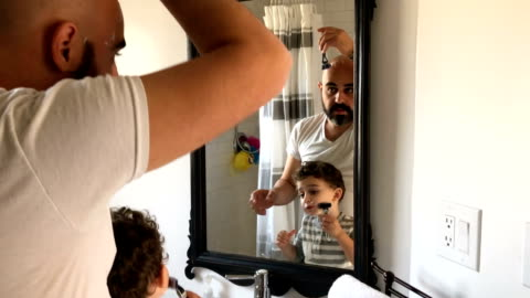 family moments - bathroom stock videos & royalty-free footage