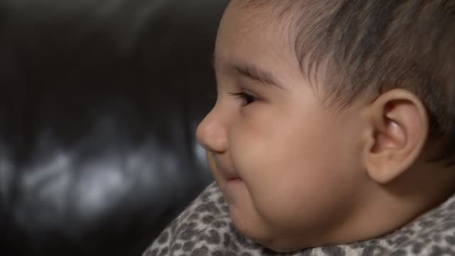 family of baby girl with spinal muscular atrophy fight for new drug to be approved england int shakil malji interview sot reporter with maryam malji... - atrophy stock videos & royalty-free footage