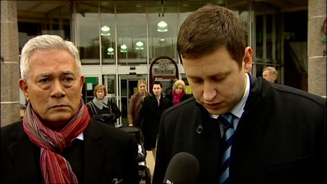 stockvideo's en b-roll-footage met family of carbon monoxide poisoning victim campaign for better awareness reading richard haines speaking to press sot review needed katie's family... - carbon monoxide