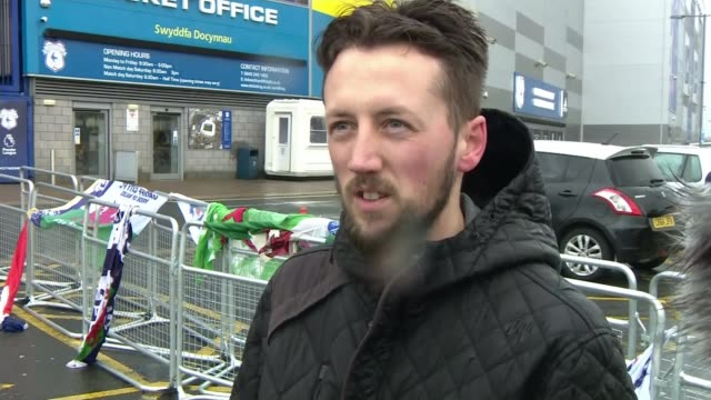 Family of Emiliano Sala speak after his body is recovered from plane WALES Cardiff Cardiff City Stadium EXT Vox pops SOT