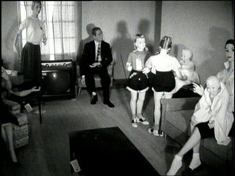 a family of mannequins awaits a nuclear weapons test in a house in survival city nevada - atomic bomb testing stock videos & royalty-free footage