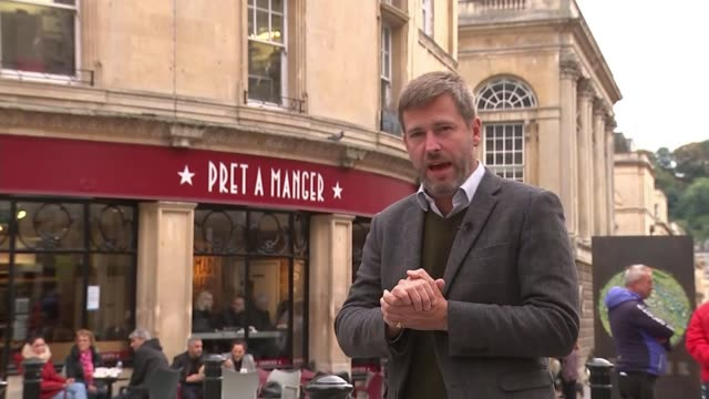 Family of second woman who died after allergic reaction to Pret a Manger product speak out ENGLAND Somerset Bath EXT Sign inside Pret a Manger shop...