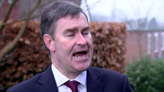 family of shamima begum say she should face justice in the uk; england: london: ext david gauke mp interview sot. - the priority for the government... - channel 4 news stock-videos und b-roll-filmmaterial
