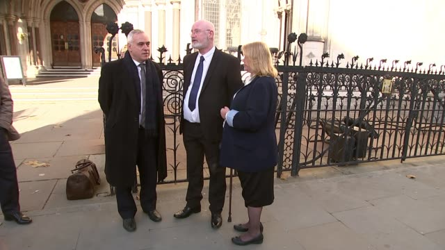 Family of soldier Geoff Gray win right to new inquest London Royal Courts of Justice Various of Geoff Gray's family outside court