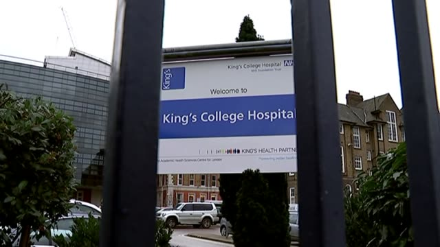 Family of terminally ill Melody Driscoll face legal battle with council over painkillers T28011538 / EXT 'Welcome to King's College Hospital' sign...