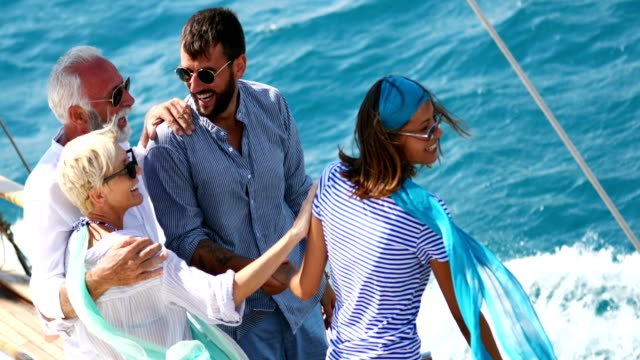 family on a sailing cruise. - yacht stock videos & royalty-free footage