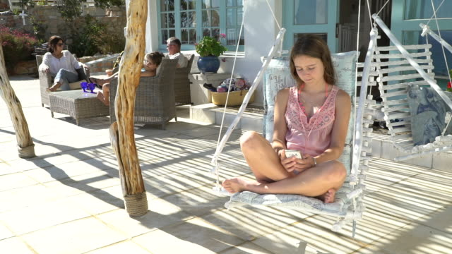 family on holiday together - little girls bare feet stock videos and b-roll footage