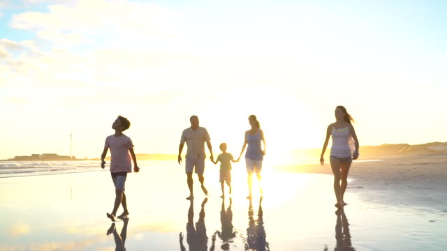 family on holiday together - family with three children stock videos & royalty-free footage