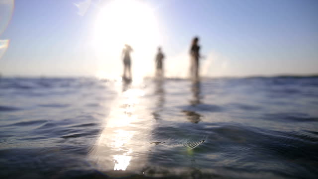 family on vacation.fun on the beach.sunset - teenage boys stock videos & royalty-free footage
