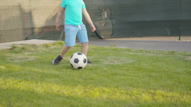 family playing soccer - domestic garden stock videos & royalty-free footage