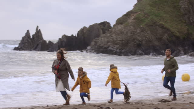 family running together - devon stock videos & royalty-free footage