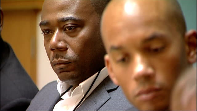 family seek apology from met police over cherry groce shooting in brixton; lee lawrence sat next to chuka umunna at press conference lord boateng at... - ランベス点の映像素材/bロール